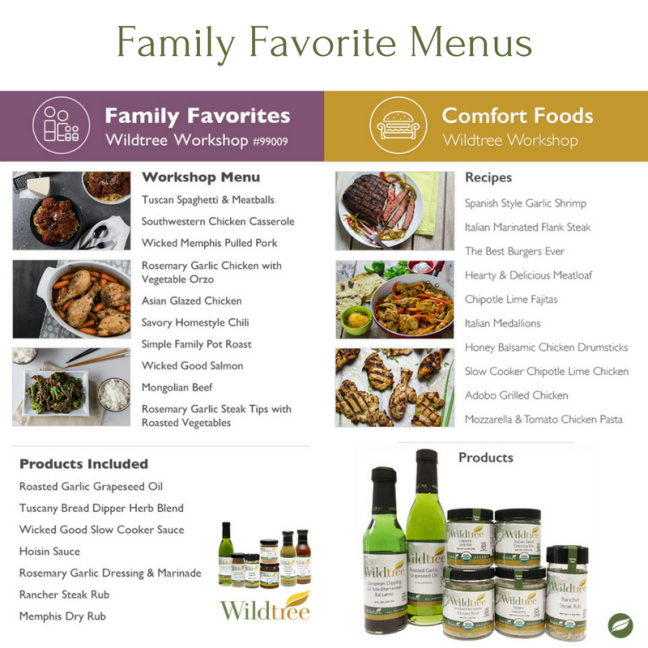 Family Favorite Menu Options