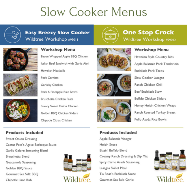 Slow Cooker Menu Options