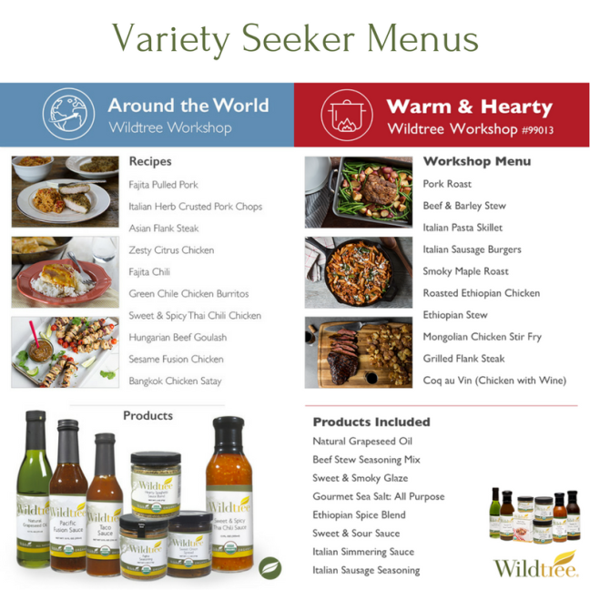 Variety Seeker Menu Options 1